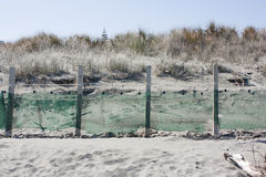 Beach fence Royalty Free Stock Image