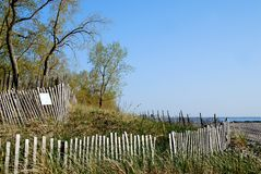 Beach fenceb Royalty Free Stock Photography