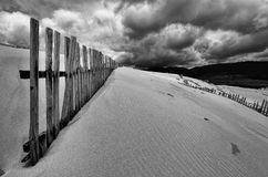 Beach fences Stock Photo