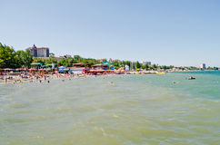 Beach in Feodosia Royalty Free Stock Photography