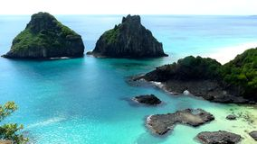 Beach in Fernando Noronha. Bahia do Porcos, Brazil. Stock Photography