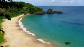 Beach in Fernando Noronha. Praia do Sancho, Brazil. Royalty Free Stock Photo