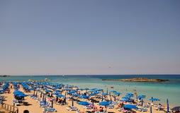 The beach of Fig tree Bay. Stock Photo