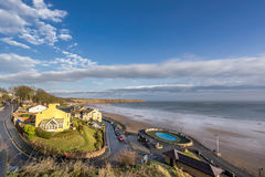 The beach in Filey in Yorkshire Stock Image