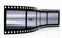 Beach Film Strip. With people stock photo