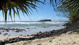 On the beach at Fingal Head, NSW Royalty Free Stock Photography