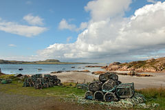 Beach at Fionnphort, Isle of Mull, Scotland Stock Images