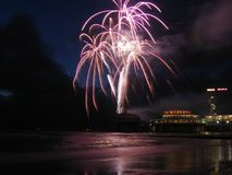 beach fireworks Στοκ φωτογραφία με δικαίωμα ελεύθερης χρήσης