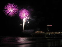 beach fireworks Στοκ Εικόνες