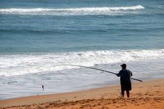 Beach fisherman Royalty Free Stock Photo