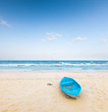 Beach and  fishing boat Royalty Free Stock Photography