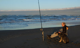 Beach Fishing Royalty Free Stock Images