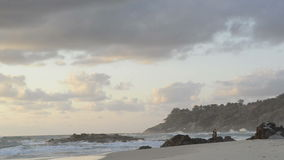 Beach Fishing Royalty Free Stock Photo