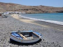 Beach of a fishing village, Fuerteventura Royalty Free Stock Photos