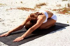 Beach Fitness Royalty Free Stock Photography
