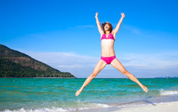 Beach fitness Stock Image