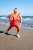 Beach fitness. Royalty Free Stock Image