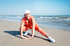 Beach fitness. Stock Images