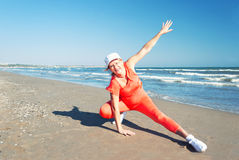 Beach fitness. Royalty Free Stock Photo