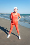 Beach fitness. Stock Image