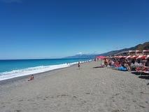 Fiumefreddo litoral. The beach of fiumefreddo del bruzio in south italy royalty free stock image