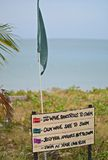 Beach flag on Pantai Cenang Stock Photography