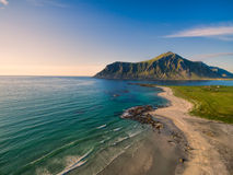 Beach in Flakstad Royalty Free Stock Image