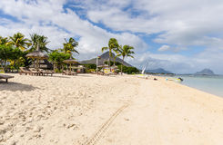 Beach of Flic en Flac in Mauritius Royalty Free Stock Image