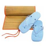 Beach flip-flop matting royalty free stock photography
