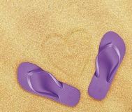 Beach flip flops Royalty Free Stock Image