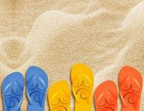 Beach flip flops Stock Photography