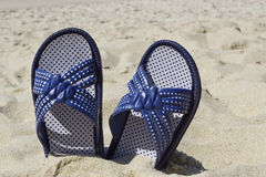 Beach flip flops Royalty Free Stock Photo