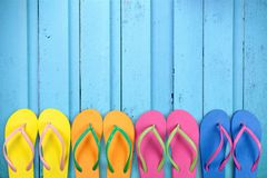 Beach Flip-flops Stock Photography