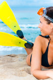 Beach flippers Stock Images