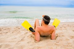 Beach flippers Stock Photos
