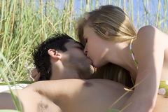 Beach flirt Royalty Free Stock Photo