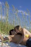 Beach flirt Stock Photo