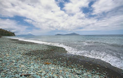 Beach in Flores island Royalty Free Stock Images