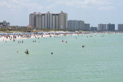 Beach in Florida. Clearwater beach in Florida Stock Image