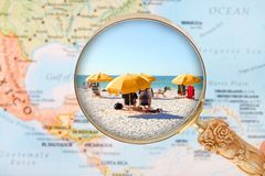 Beach in Florida USA Stock Image