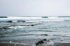 Beach, Foam, Landscape, Nature Royalty Free Stock Photos