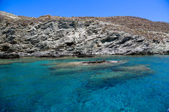 Beach Folegandros Stock Images