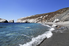 Beach in Folegandros island in Greece Stock Photos