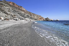 Beach in Folegandros island in Greece Stock Images