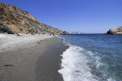 Beach in Folegandros island in Greece Stock Photography