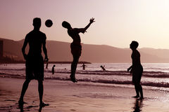Beach Football Royalty Free Stock Photography