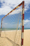 Beach football pitch Stock Photos
