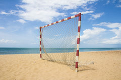 Beach football pitch popular sport Stock Images