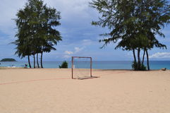 Beach Football soccer Goals Royalty Free Stock Photo