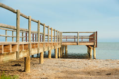 Beach footbridge Royalty Free Stock Image